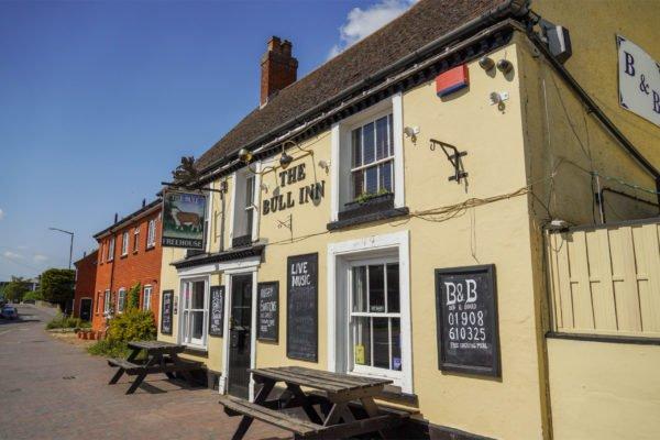 The Bull Inn pub in Newport Pagnell