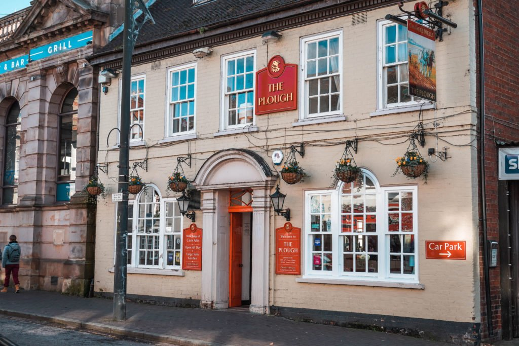 Pub front for The Plough in Newport Pagnell High Street