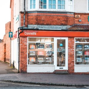 Shop front for Connells in Newport Pagnell High Street