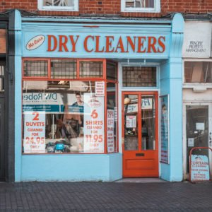 Shop front for Mr Clean in Newport Pagnell High Street