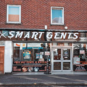 Shop front for Smart Gents in Newport Pagnell High Street