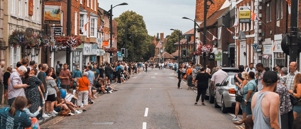 Newport Pagnell High Street on Carnival day 2017