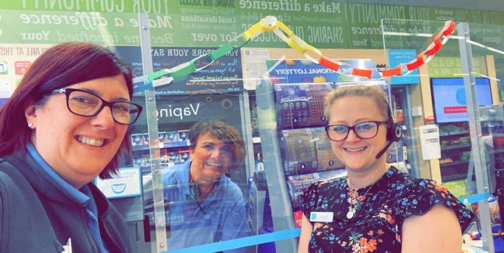 Photo of staff at The Little Co-Op in Newport Pagnell High Street