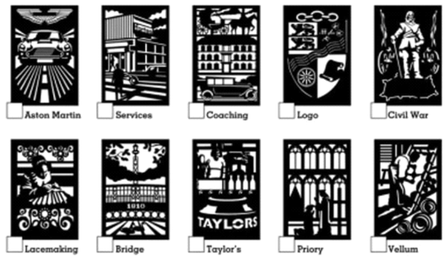 The proposed designs and concepts for the Gateway Signs