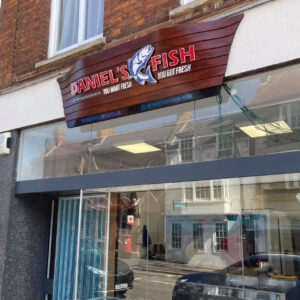 Daniel's Fish shop front in Newport Pagnell High Street